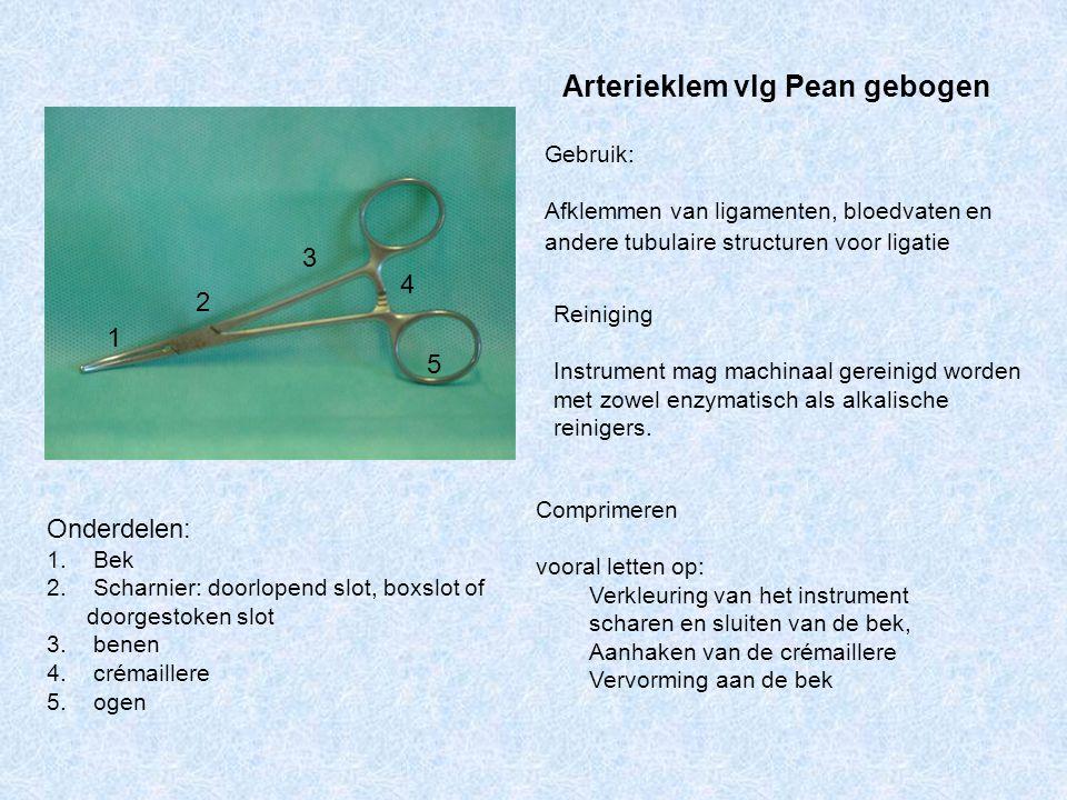 Arterieklem vlg Pean gebogen