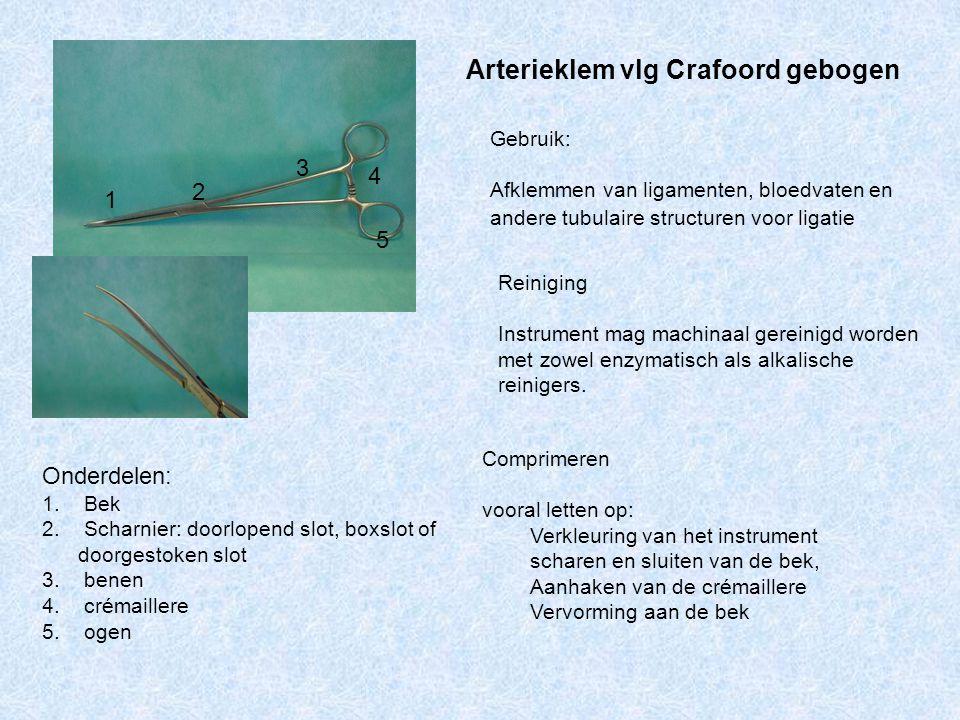 Arterieklem vlg Crafoord gebogen
