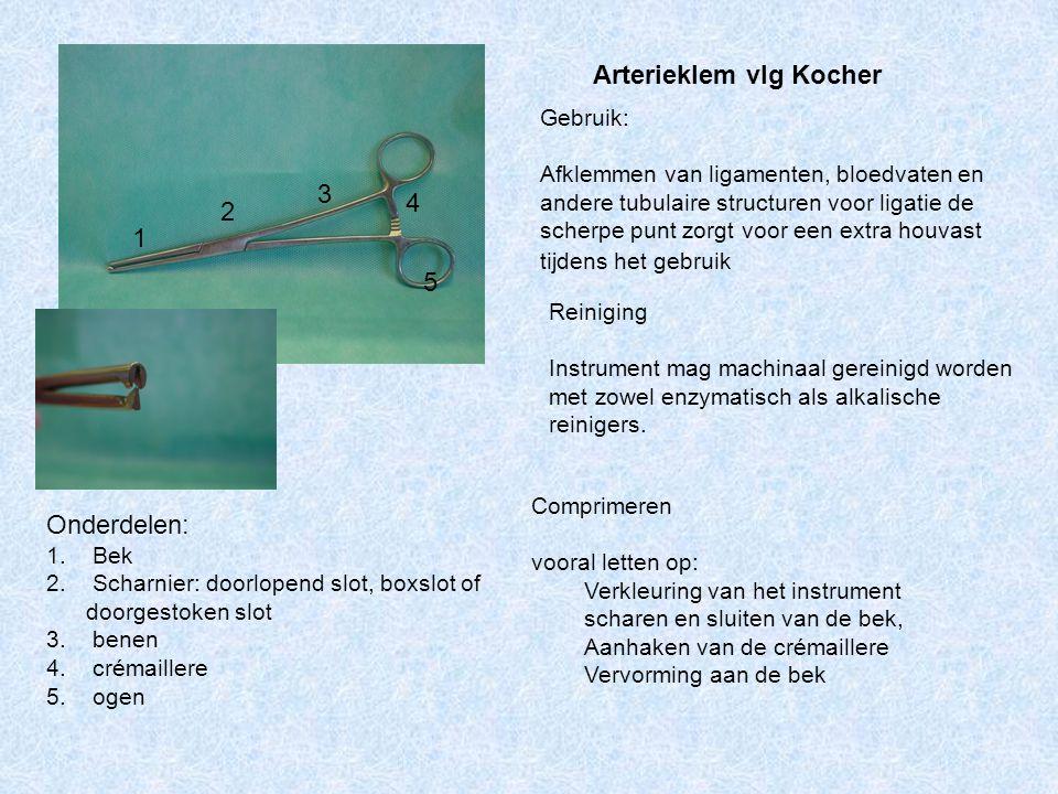Arterieklem vlg Kocher