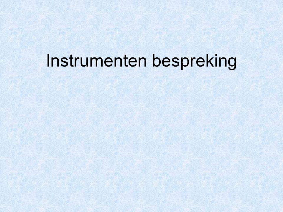 Instrumenten bespreking