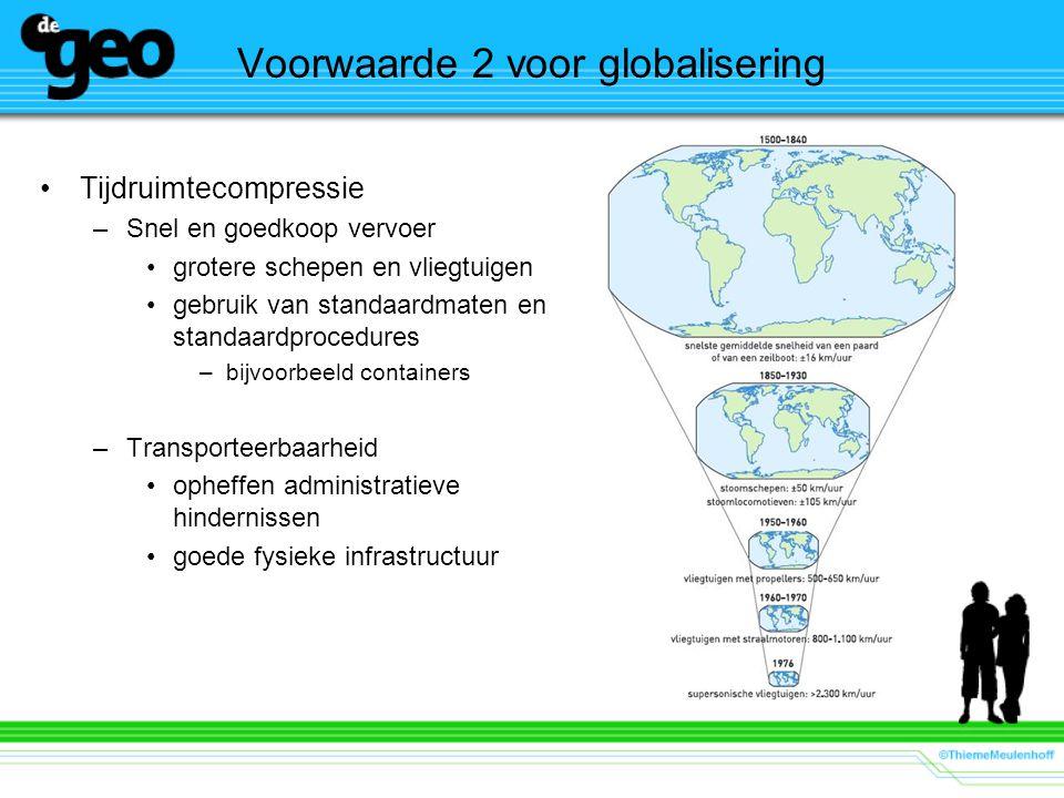 Voorwaarde 2 voor globalisering