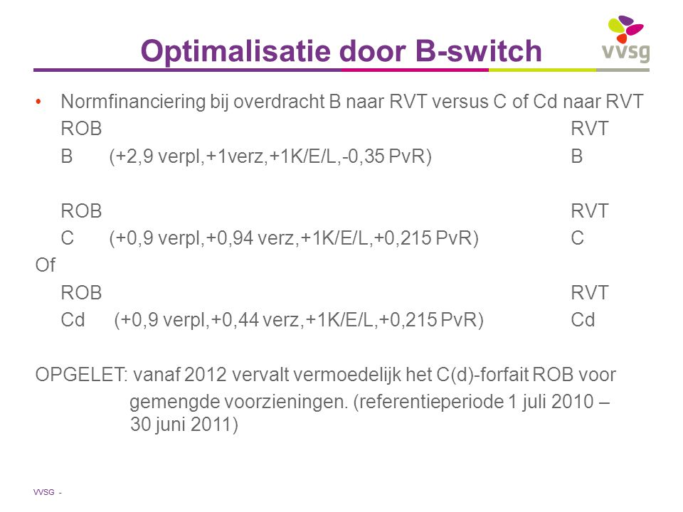 Optimalisatie door B-switch