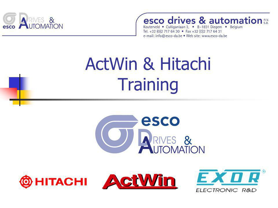 ActWin & Hitachi Training