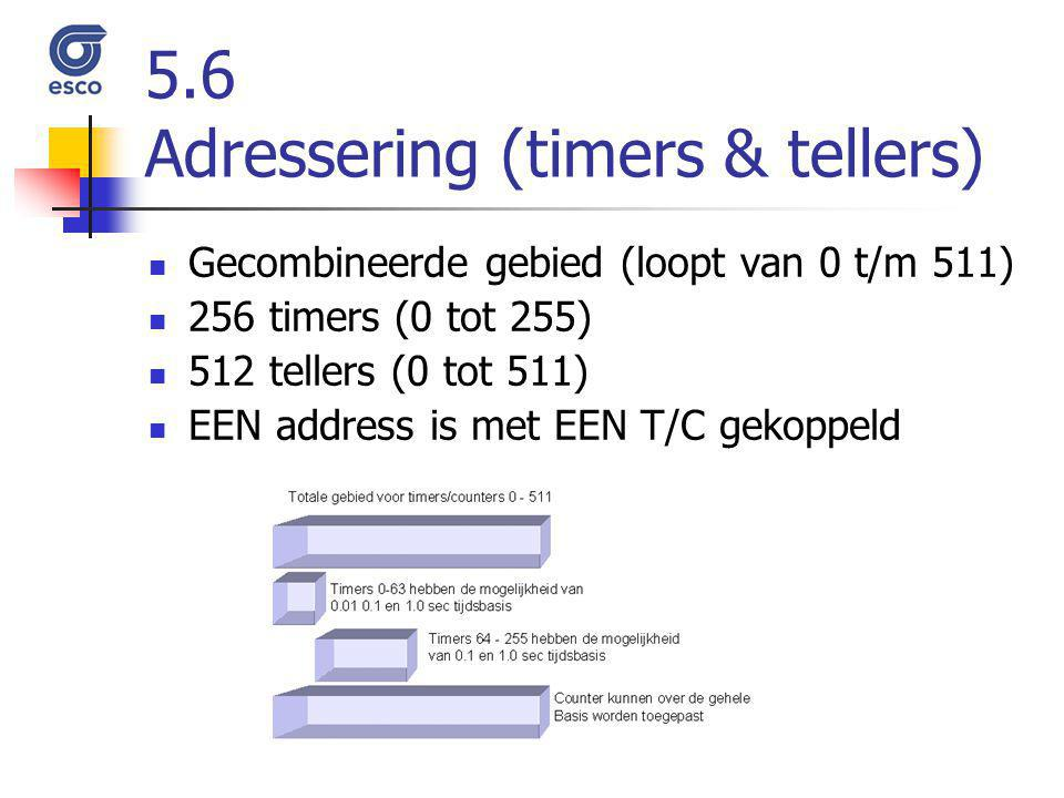 5.6 Adressering (timers & tellers)