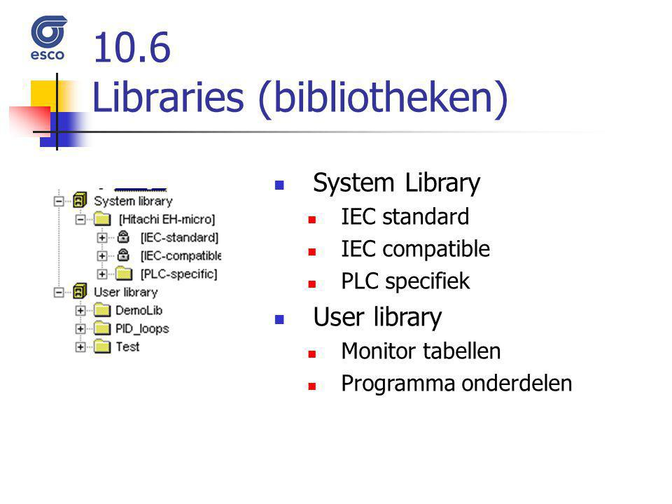 10.6 Libraries (bibliotheken)