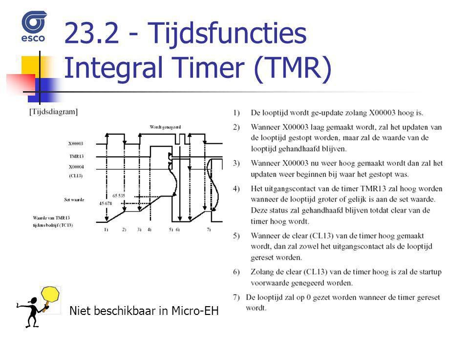 23.2 - Tijdsfuncties Integral Timer (TMR)