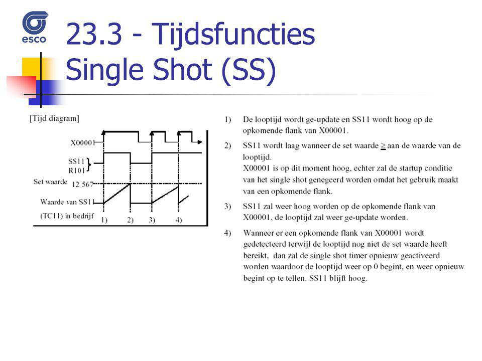 Tijdsfuncties Single Shot (SS)
