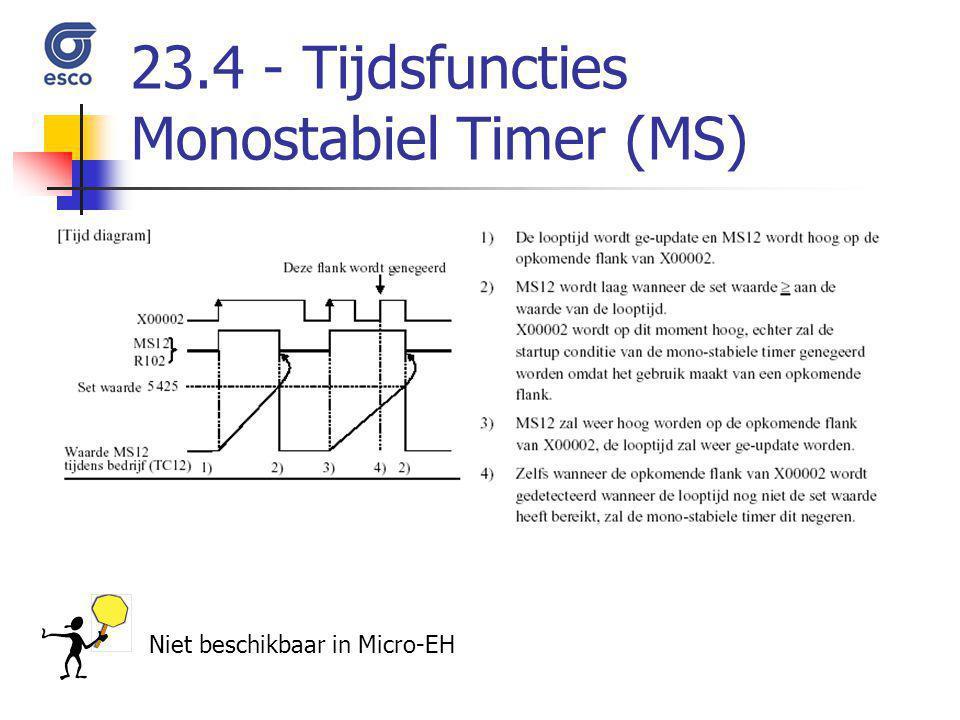 23.4 - Tijdsfuncties Monostabiel Timer (MS)