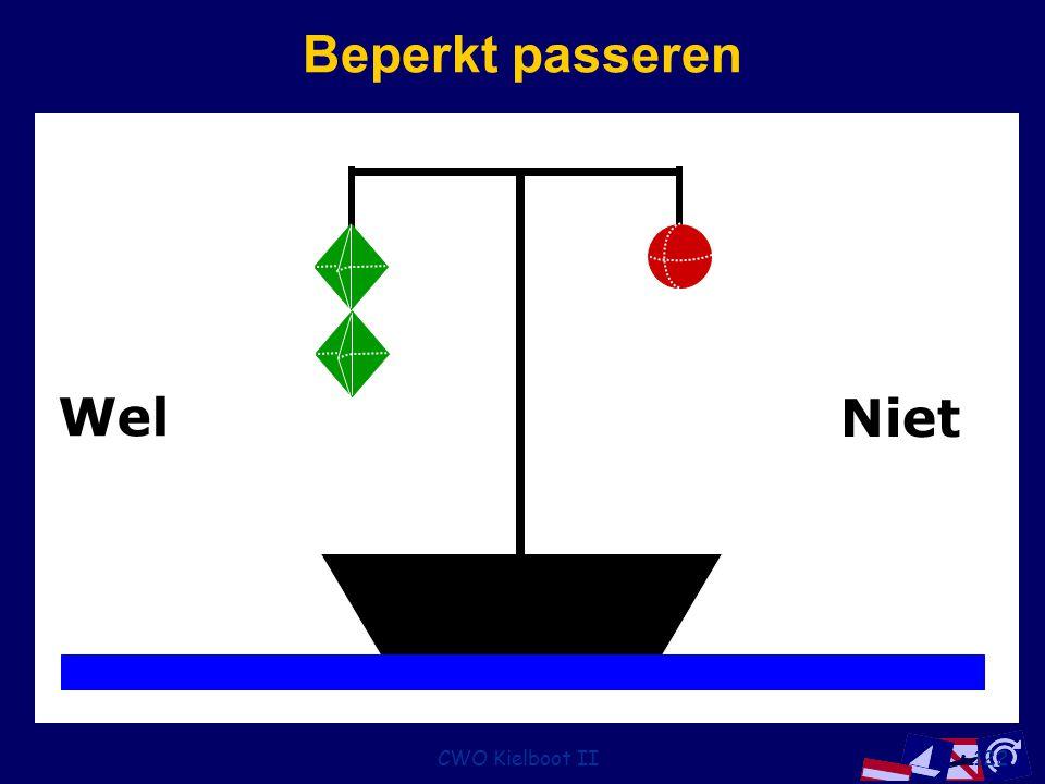 Beperkt passeren Wel Niet CWO Kielboot II