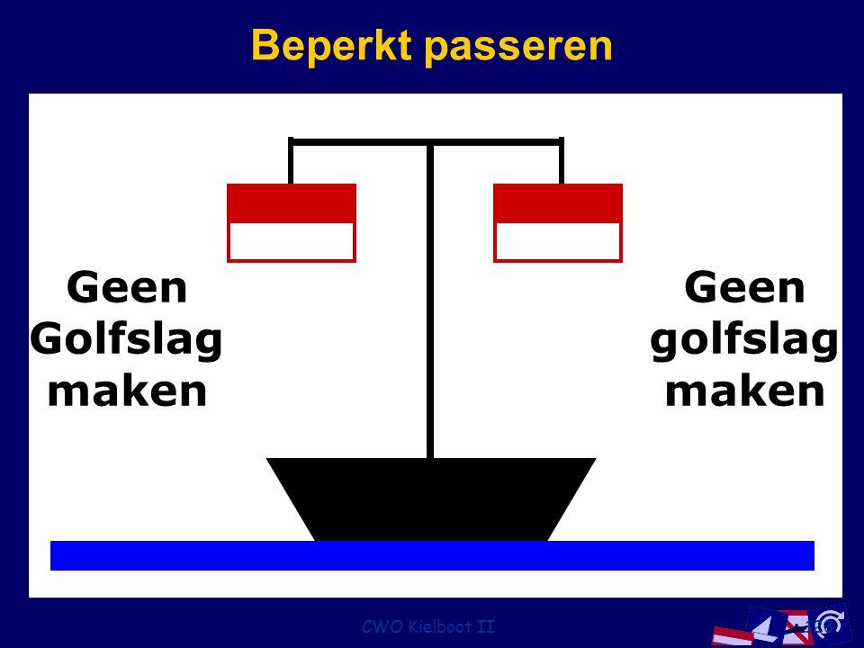 Beperkt passeren Geen golfslag maken Golfslag CWO Kielboot II
