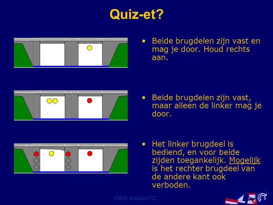 Quiz-et Beide brugdelen zijn vast en mag je door. Houd rechts aan.