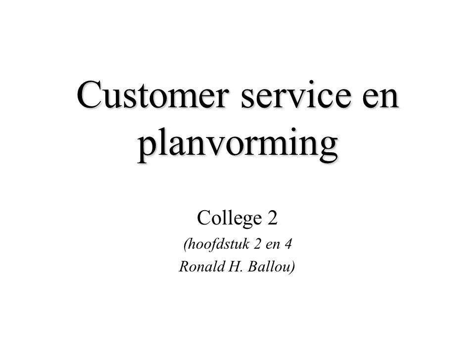 Customer service en planvorming