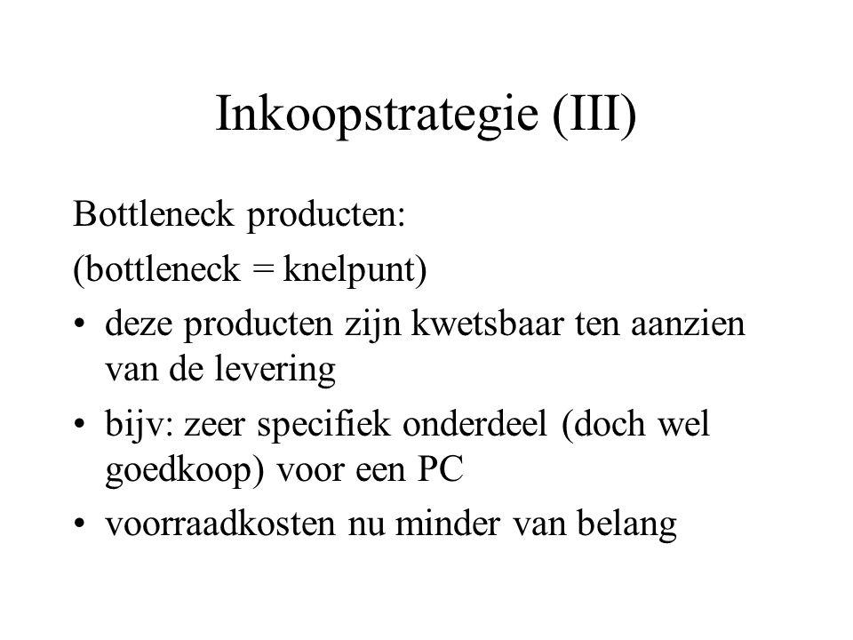 Inkoopstrategie (III)