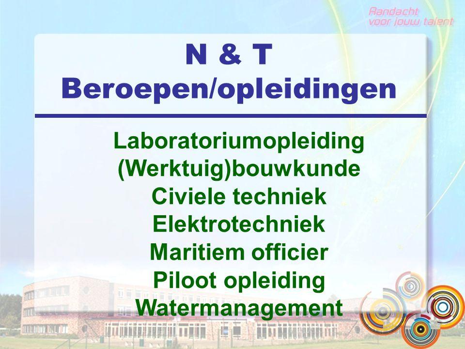 N & T Beroepen/opleidingen Laboratoriumopleiding