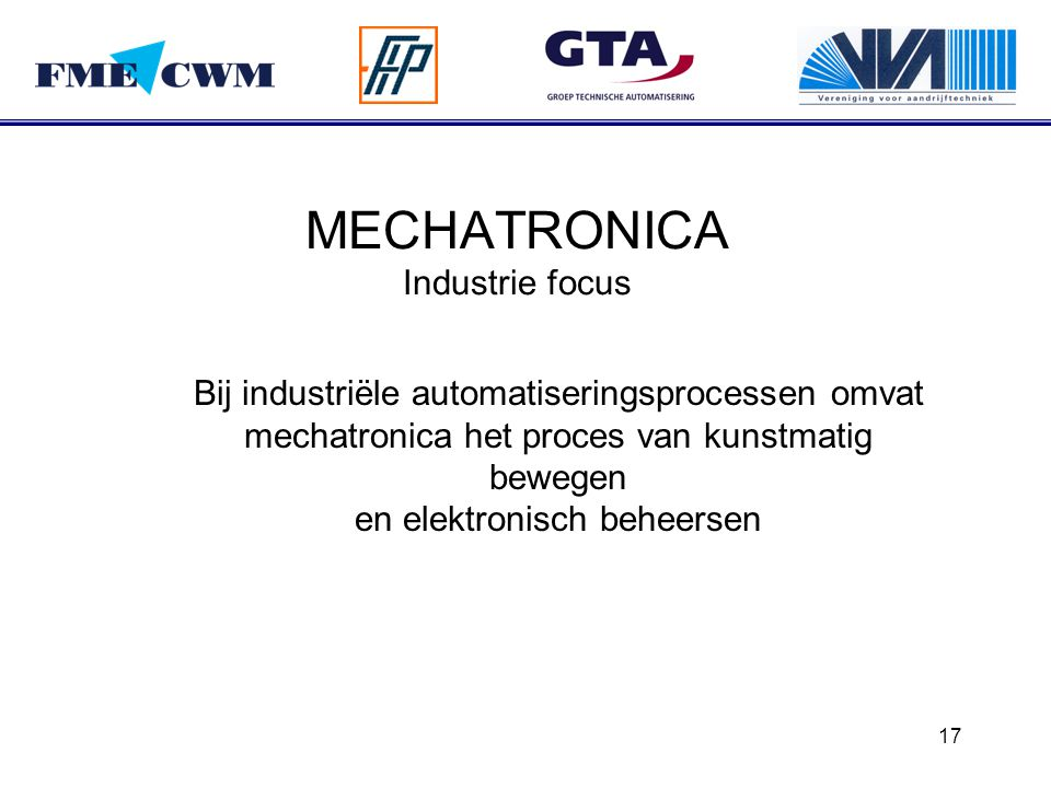 MECHATRONICA Industrie focus