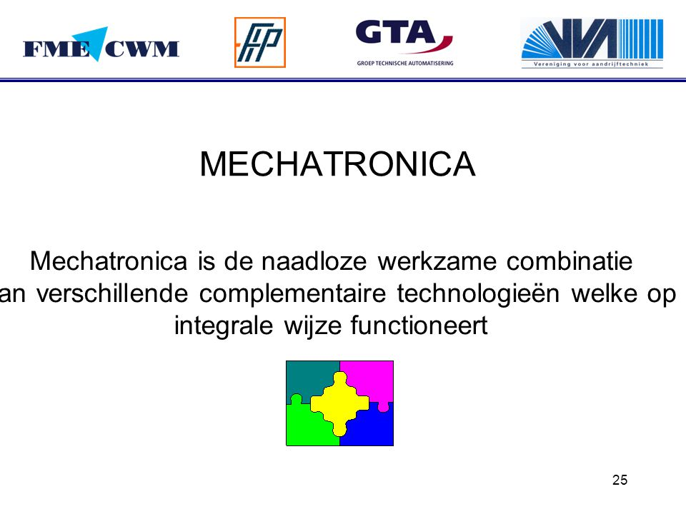 MECHATRONICA Mechatronica is de naadloze werkzame combinatie