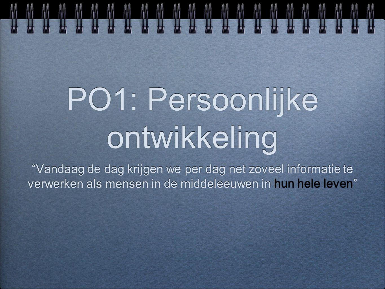 PO1: Persoonlijke ontwikkeling