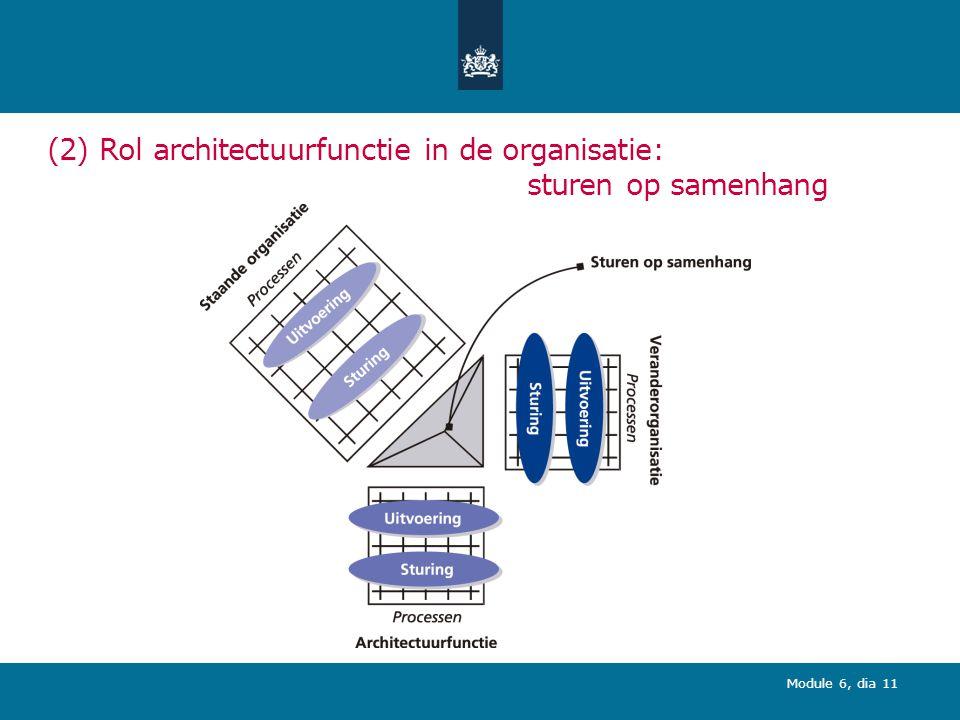(2) Rol architectuurfunctie in de organisatie: sturen op samenhang
