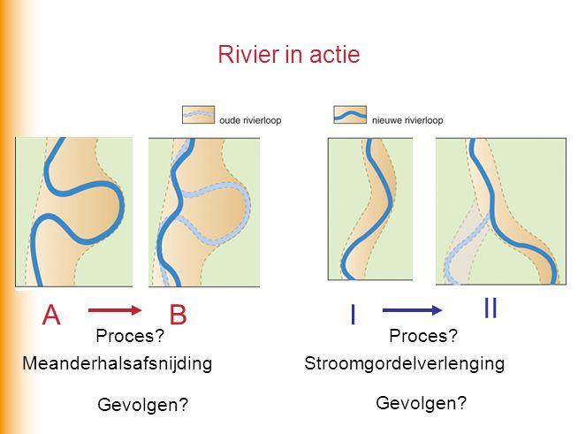 II A B I Rivier in actie Gevolgen Proces Proces