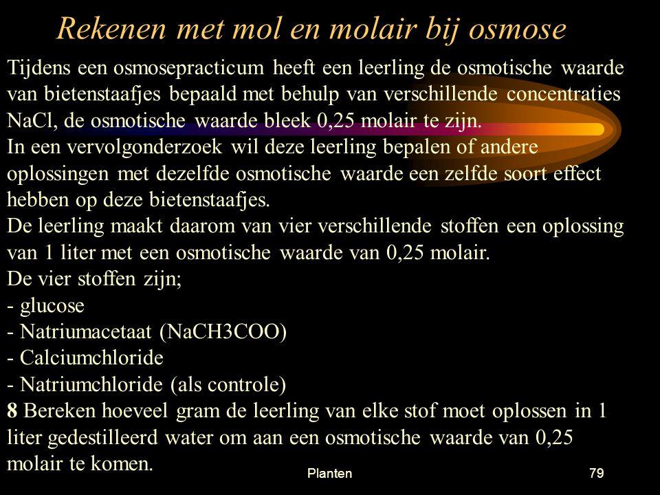 Rekenen met mol en molair bij osmose