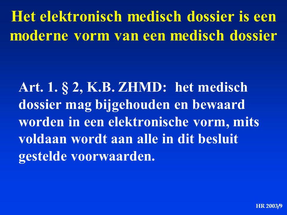 Het elektronisch medisch dossier is een moderne vorm van een medisch dossier