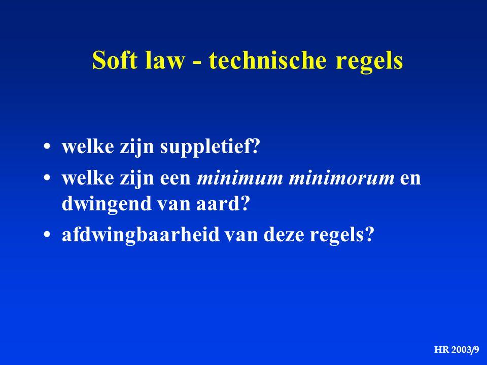 Soft law - technische regels