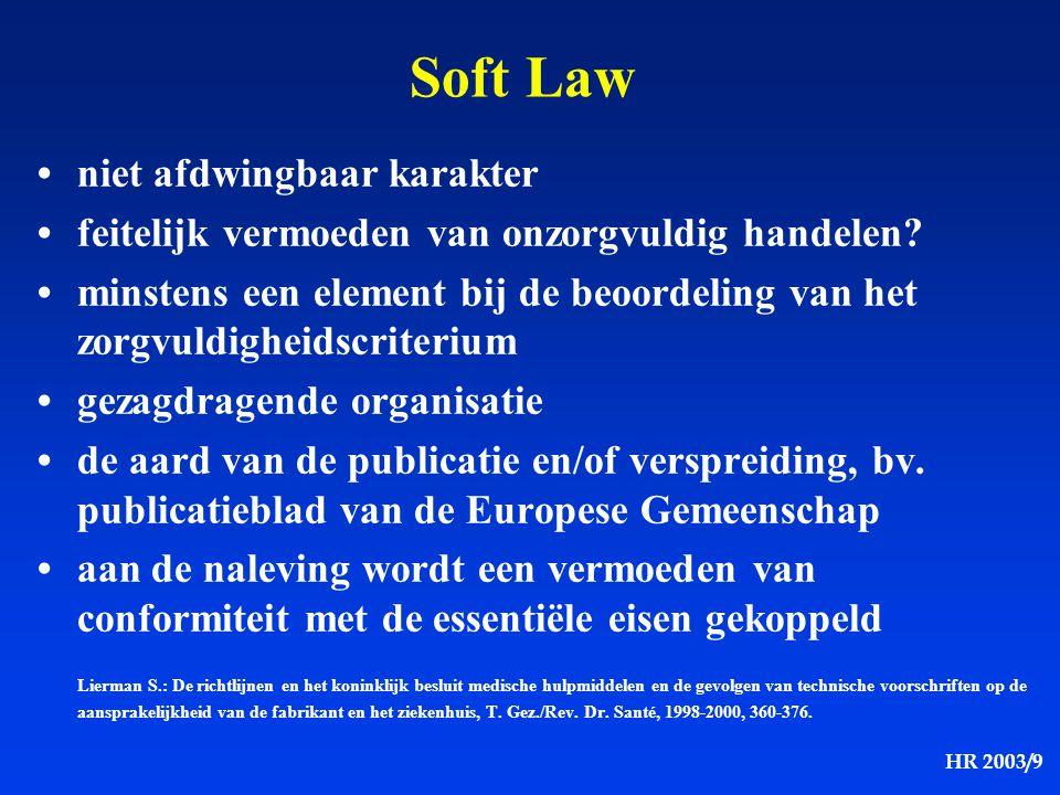 Soft Law • niet afdwingbaar karakter