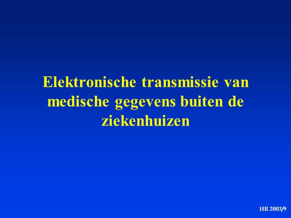 Elektronische transmissie van medische gegevens buiten de ziekenhuizen