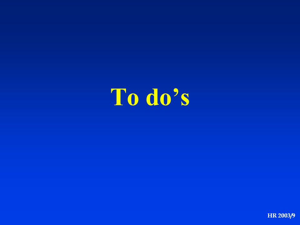 To do's