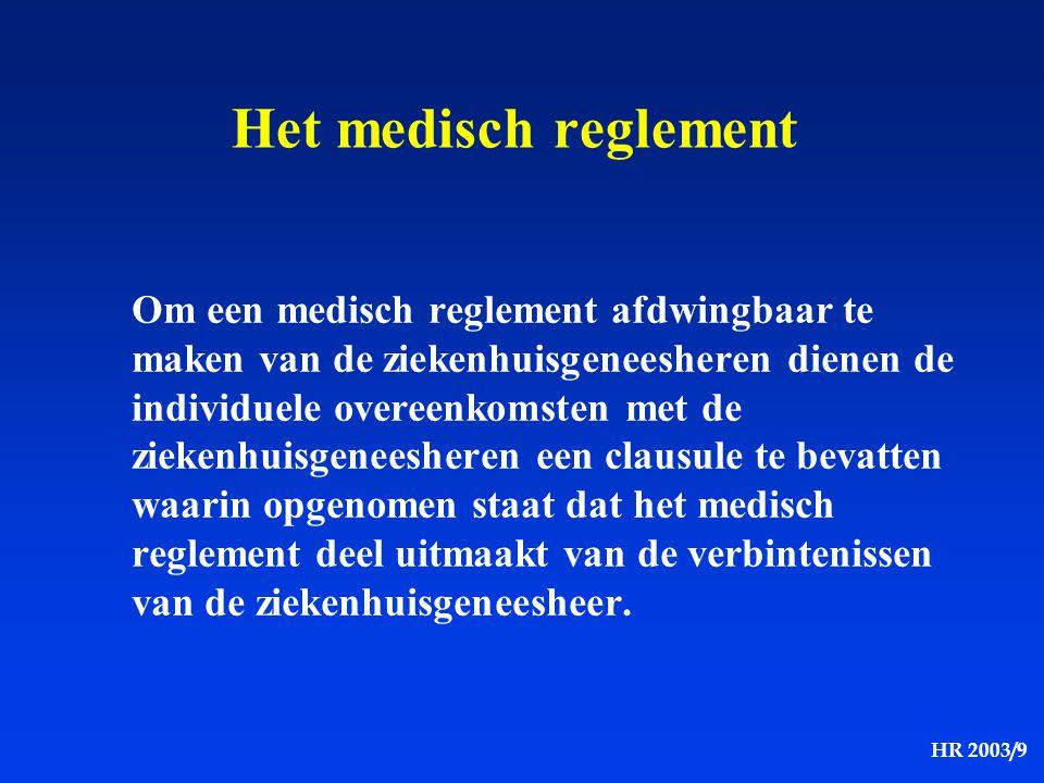 Het medisch reglement