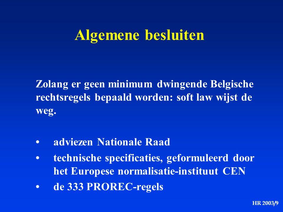 Algemene besluiten Zolang er geen minimum dwingende Belgische rechtsregels bepaald worden: soft law wijst de weg.
