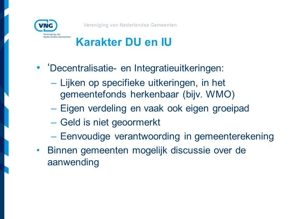 'Decentralisatie- en Integratieuitkeringen: