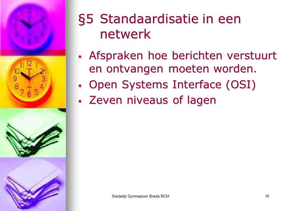 §5 Standaardisatie in een netwerk