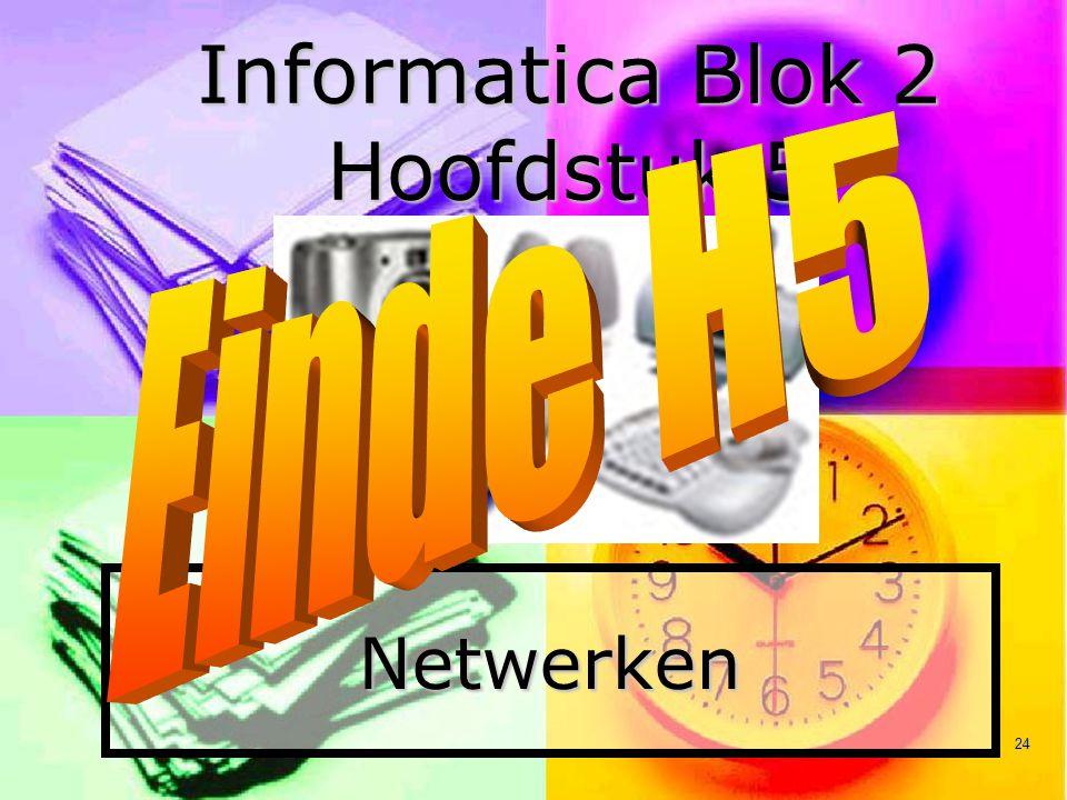 Informatica Blok 2 Hoofdstuk 5
