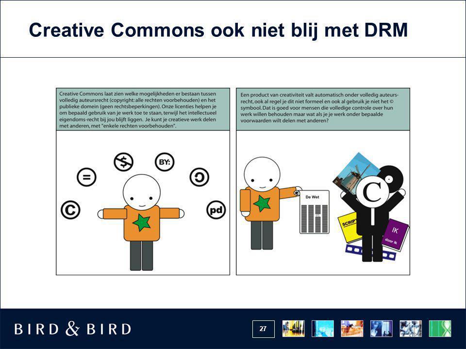 Creative Commons ook niet blij met DRM
