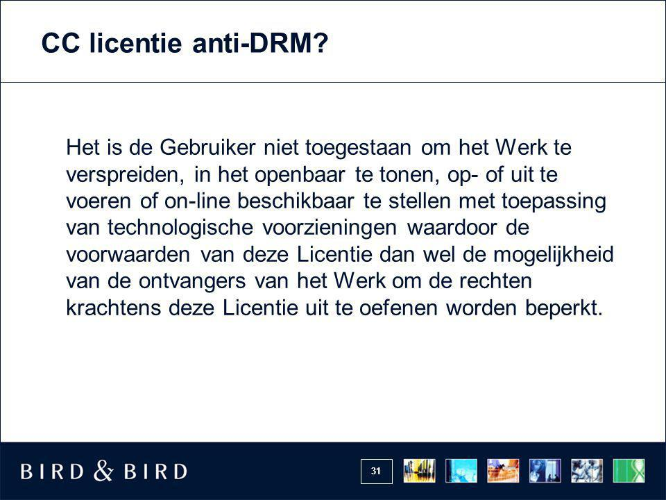 CC licentie anti-DRM