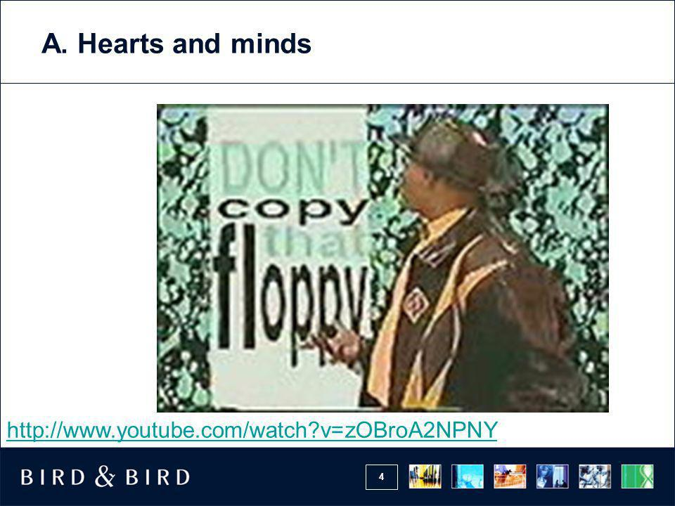 A. Hearts and minds http://www.youtube.com/watch v=zOBroA2NPNY