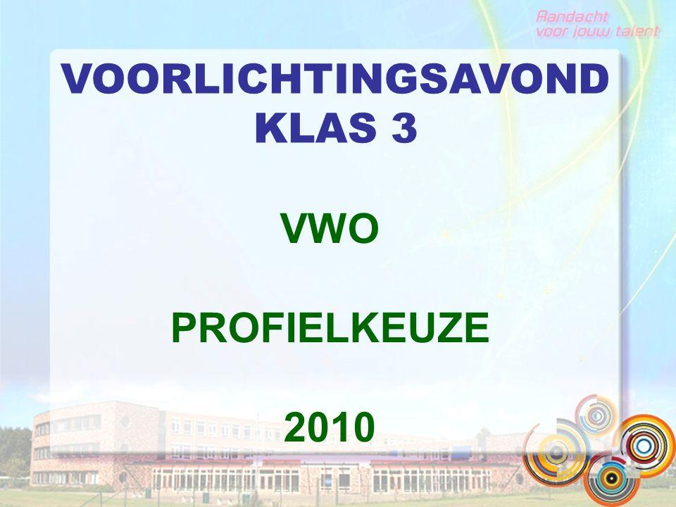 VOORLICHTINGSAVOND KLAS 3