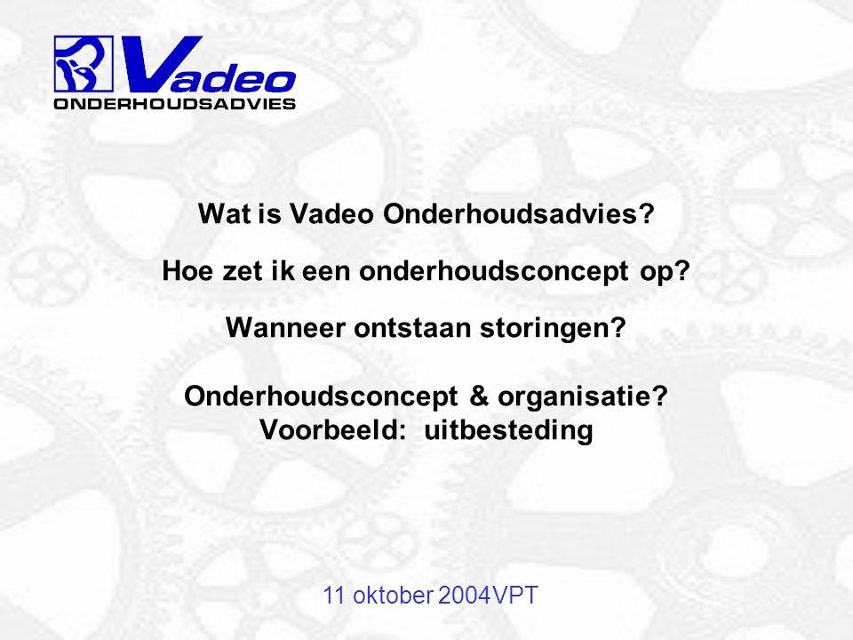 Wat is Vadeo Onderhoudsadvies. Hoe zet ik een onderhoudsconcept op
