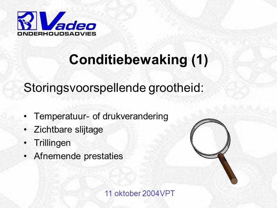Conditiebewaking (1) Storingsvoorspellende grootheid: