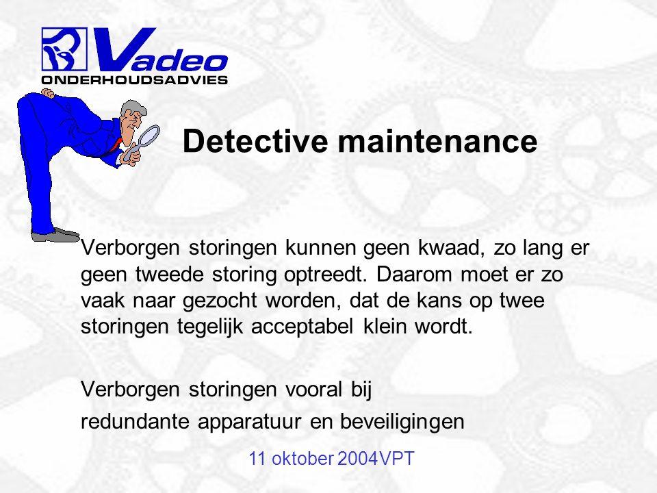 Detective maintenance
