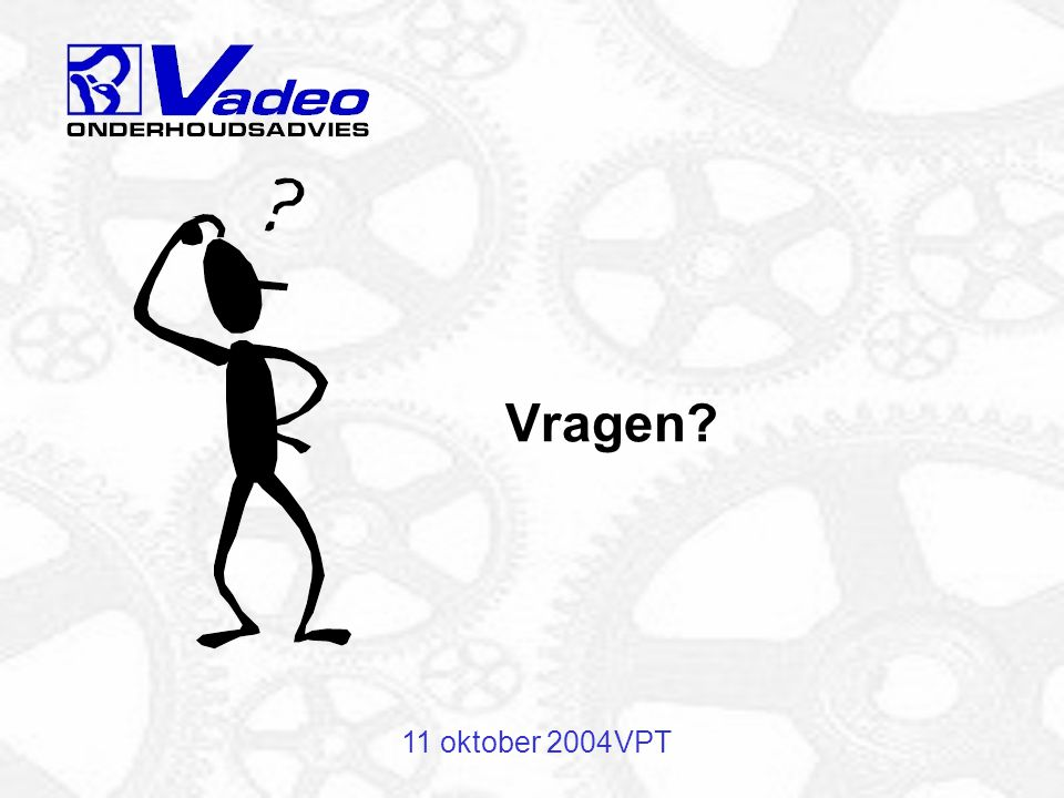 Vragen 11 oktober 2004 VPT