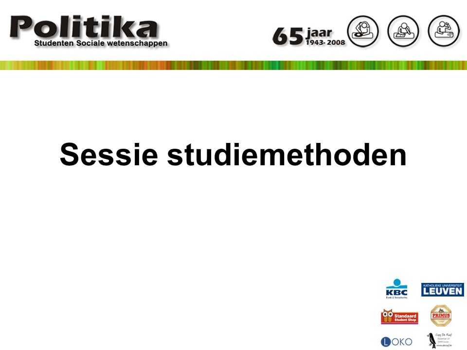 Sessie studiemethoden