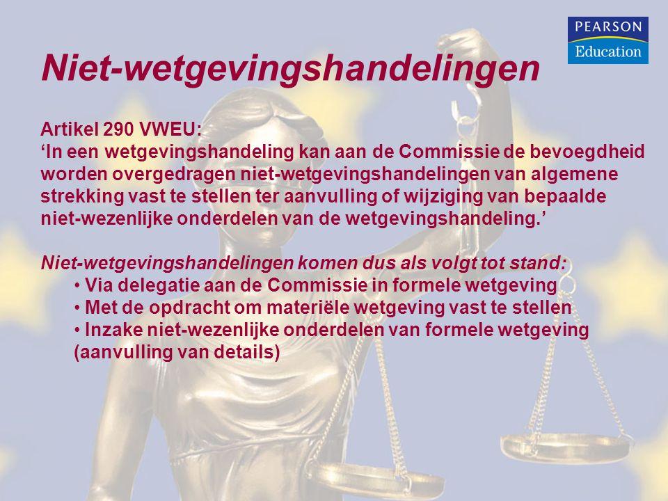 Niet-wetgevingshandelingen
