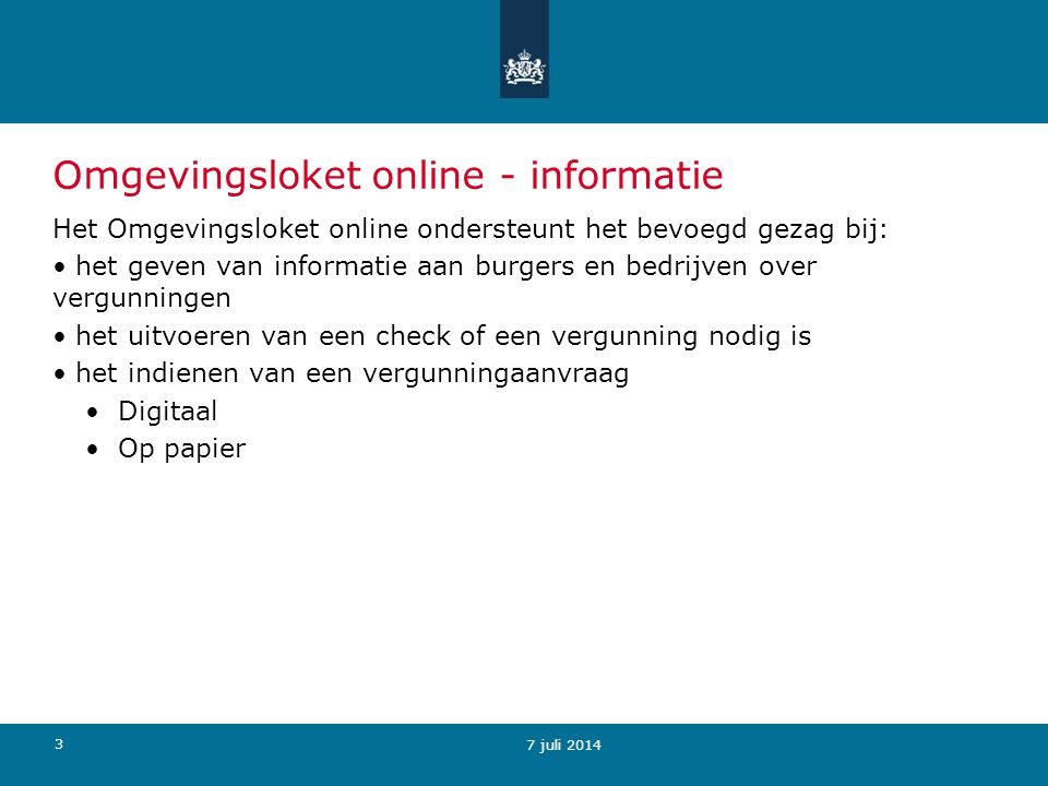 Omgevingsloket online - informatie
