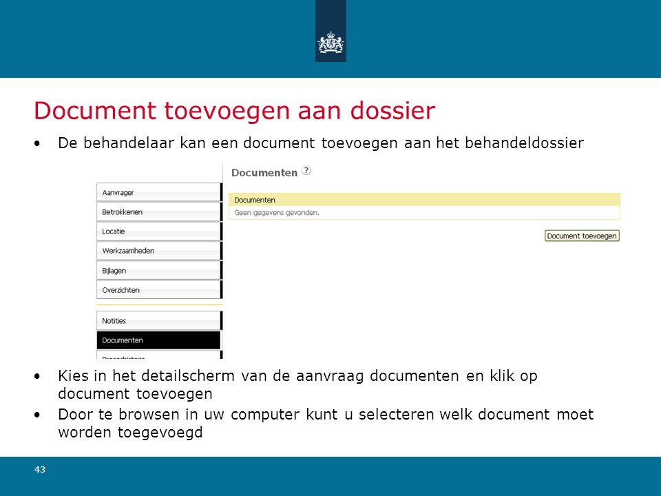 Document toevoegen aan dossier