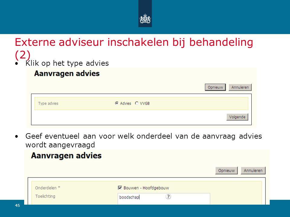 Externe adviseur inschakelen bij behandeling (2)