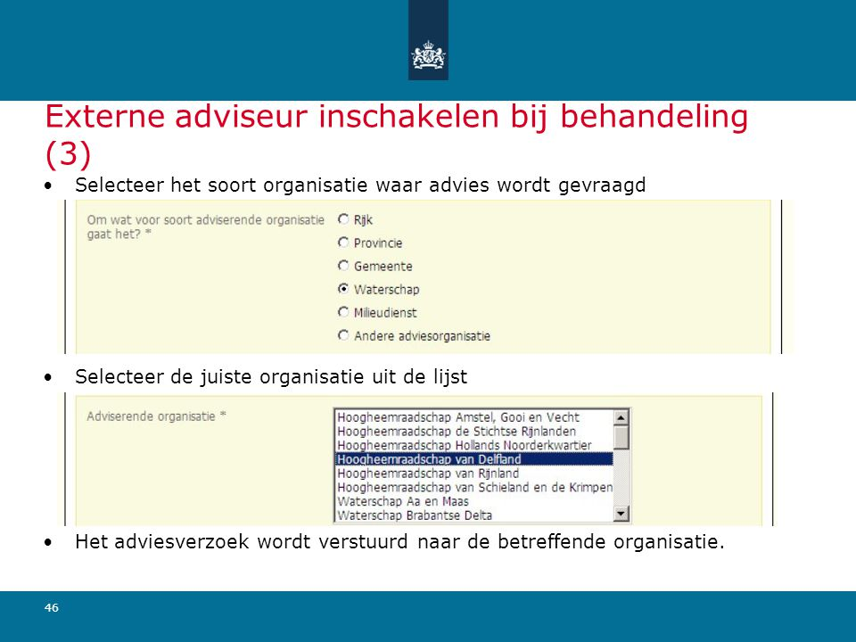 Externe adviseur inschakelen bij behandeling (3)