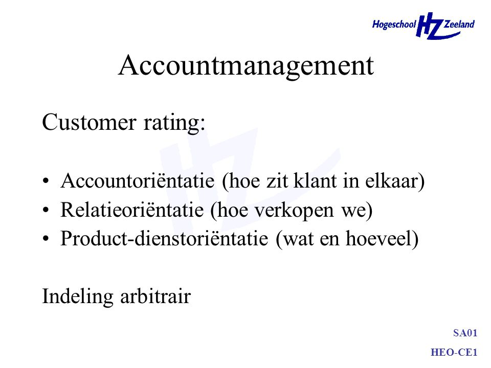 Accountmanagement Customer rating: