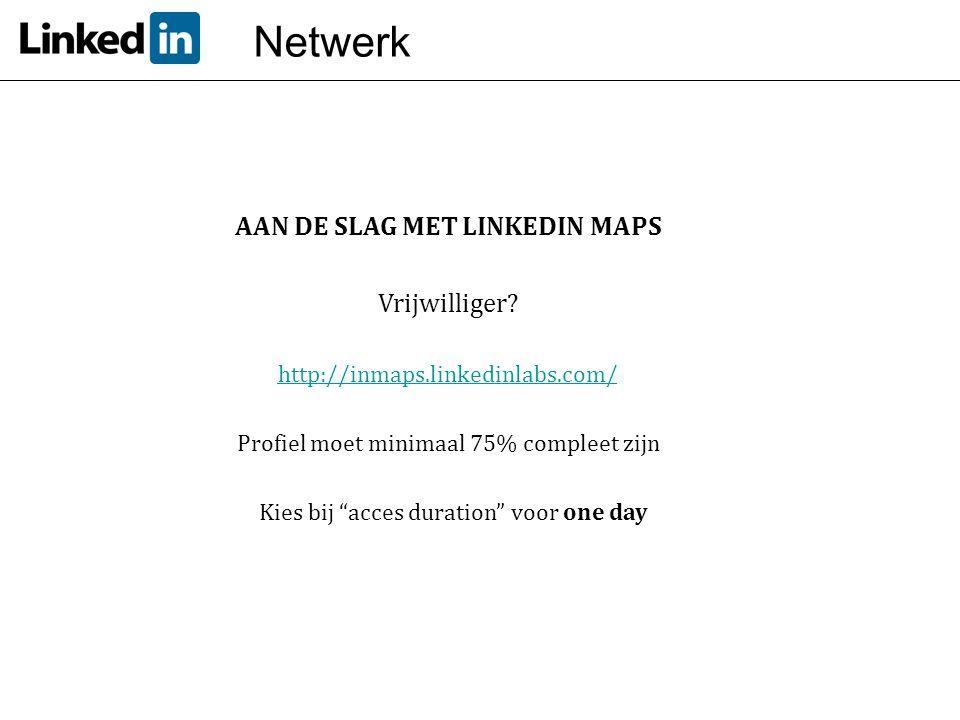 AAN DE SLAG MET LINKEDIN MAPS